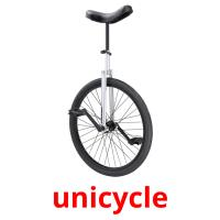 unicycle picture flashcards