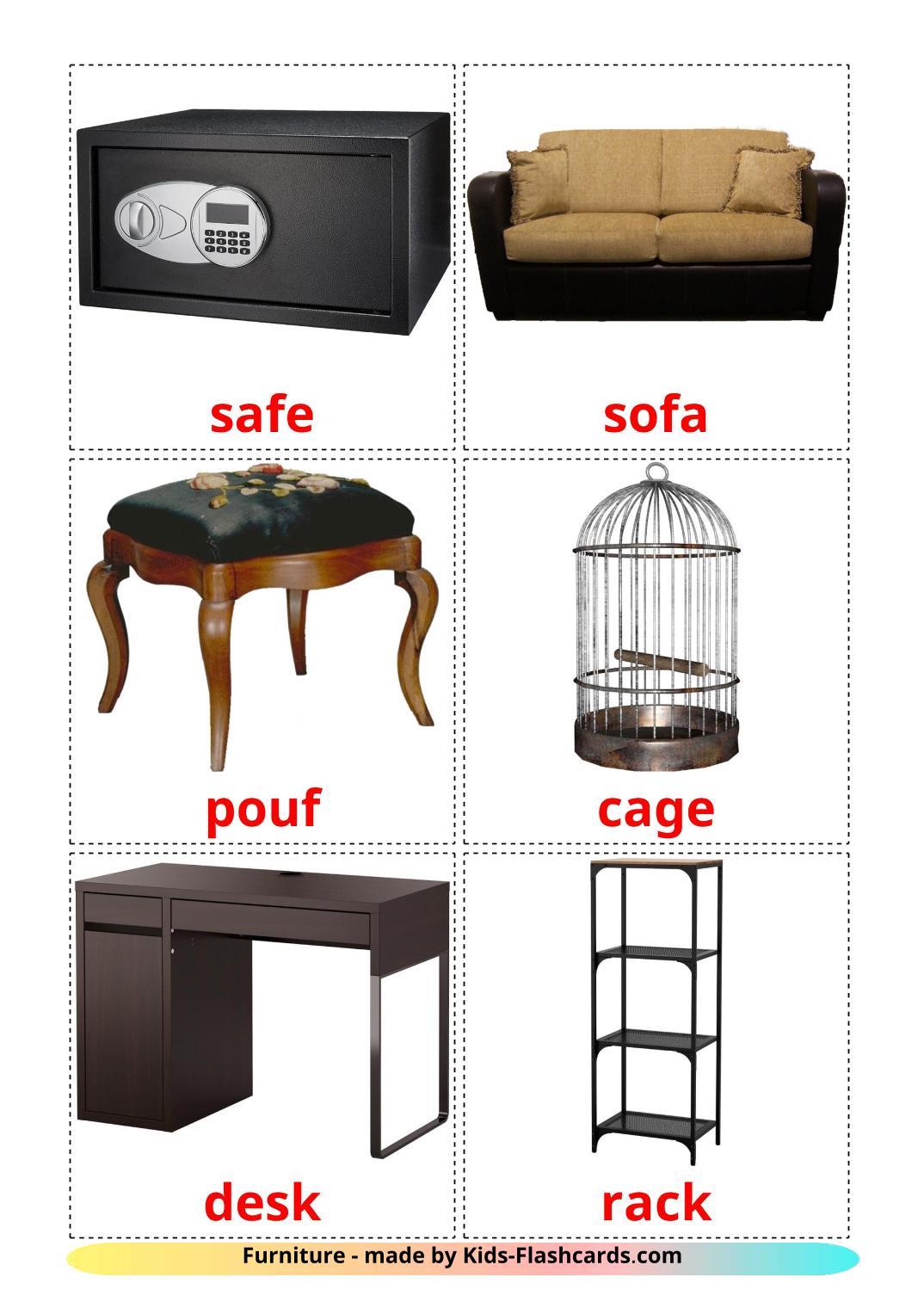 Furniture - 31 Free Printable english Flashcards