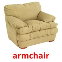 armchair picture flashcards