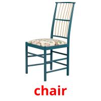 chair picture flashcards