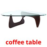 coffee table picture flashcards