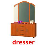 dresser picture flashcards