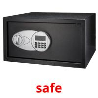 safe picture flashcards