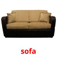 sofa picture flashcards