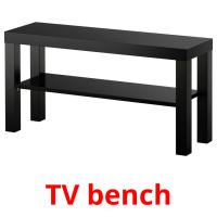 TV bench picture flashcards