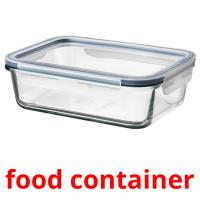 food container picture flashcards