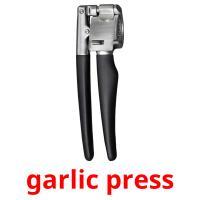 garlic press picture flashcards