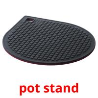 pot stand picture flashcards