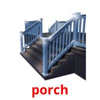 porch picture flashcards