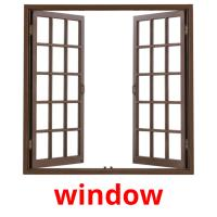 window picture flashcards