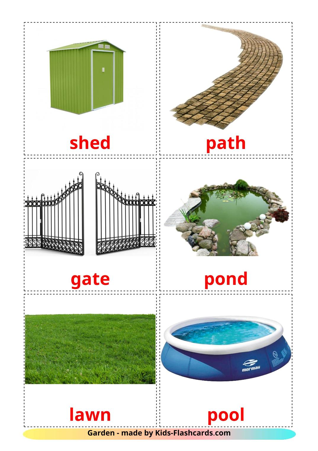 Garden - 18 Free Printable english Flashcards