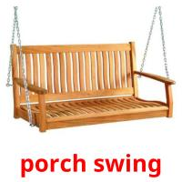 porch swing picture flashcards