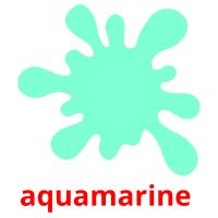 aquamarine  picture flashcards