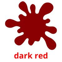 dark red picture flashcards