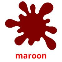 maroon picture flashcards