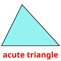 acute triangle picture flashcards