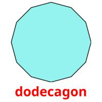 dodecagon picture flashcards