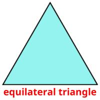 equilateral triangle picture flashcards
