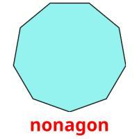 nonagon picture flashcards