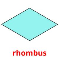 rhombus picture flashcards