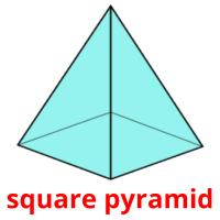 square pyramid picture flashcards