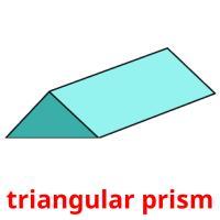 triangular prism picture flashcards