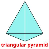 triangular pyramid picture flashcards