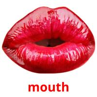 mouth picture flashcards
