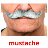 mustache picture flashcards