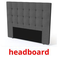 headboard picture flashcards