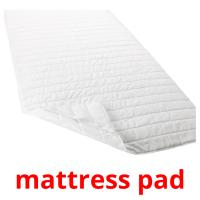 mattress pad picture flashcards
