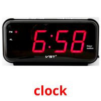 clock picture flashcards