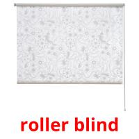 roller blind picture flashcards