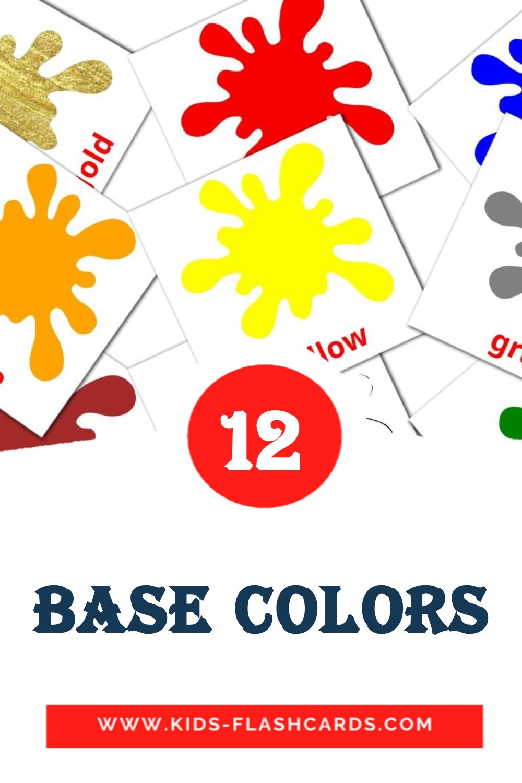 Base colors на английском для Детского Сада (12 карточек)
