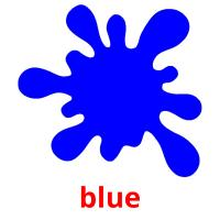 blue picture flashcards