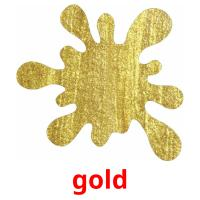 gold picture flashcards