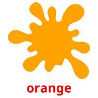 orange picture flashcards