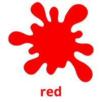 red picture flashcards