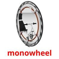 monowheel picture flashcards