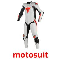 motosuit picture flashcards