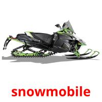 snowmobile picture flashcards