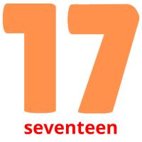 seventeen picture flashcards