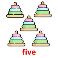 five picture flashcards
