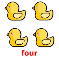 four picture flashcards