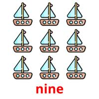 nine picture flashcards