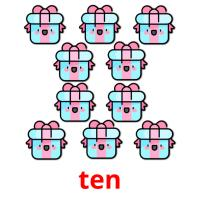ten picture flashcards