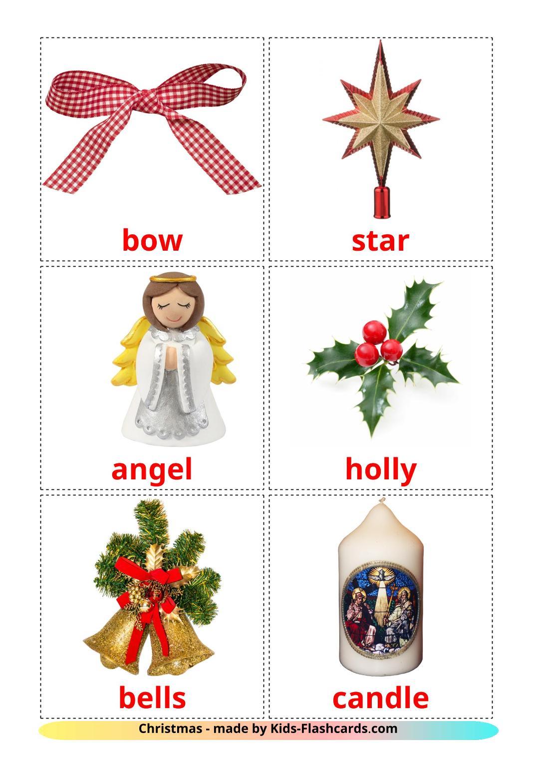 Christmas - 28 Free Printable english Flashcards