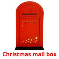 Christmas mail box picture flashcards