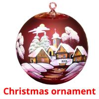 Christmas ornament picture flashcards