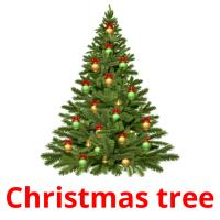 Christmas tree picture flashcards